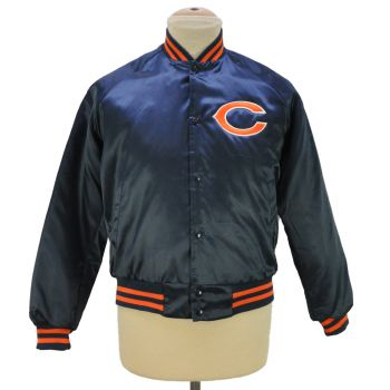 Vintage Chalk Line Chicago Bears Snap Button Bombers Jacket Made In USA