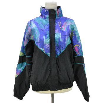 Vintage Reebok Full Zip Half Printed Windbreaker Jacket