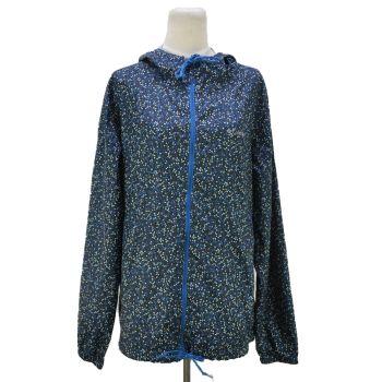 Vintage Columbia Full Zip Printed Windbreaker Hooded Jacket