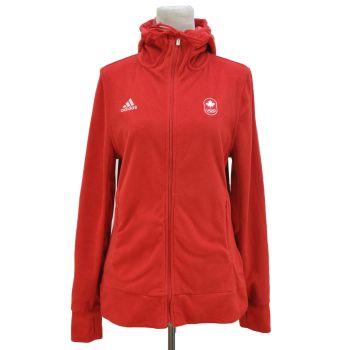 Ladies Adidas Full Zip Canada Olympic Hoodie Jacket