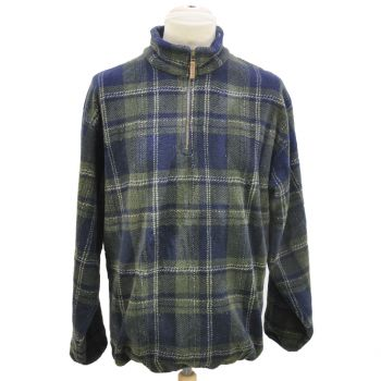 Vintage Nautica Plaid 1/4 Zip Fleece Sweater