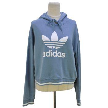 Ladies Adidas Crop Pullover Hoodie