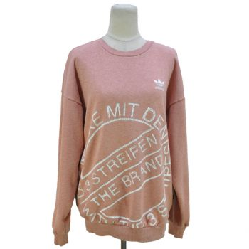 Ladies Adidas Printed Pullover Sweatshirt