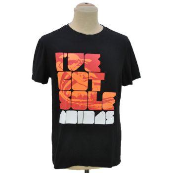 Boys Adidas Logo Printed Black T-Shirt