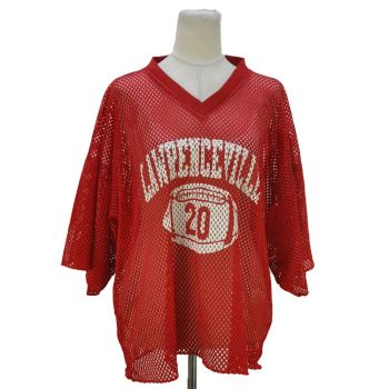Ladies Lawrenceville Red Mesh Jersey