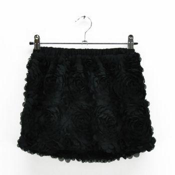 Girls Black Mini Skirt